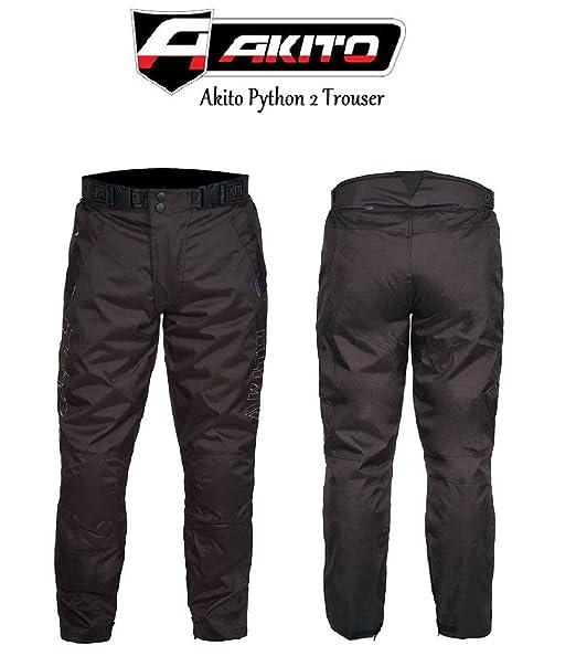 AKITO Python 2Pantalon moto Racing et Touring Pantalon pour homme Noir