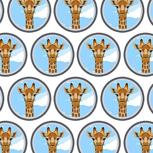 Premium Gift Wrap Wrapping Paper Roll Animals Going On Safari - Giraffe Zoo Animal Safari