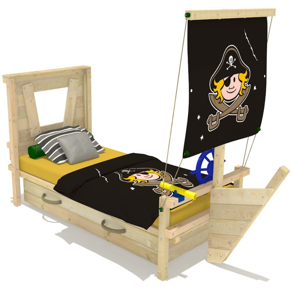 Wickeydream Spielbett Captain Coconut 90x200cm Fahne Pirat