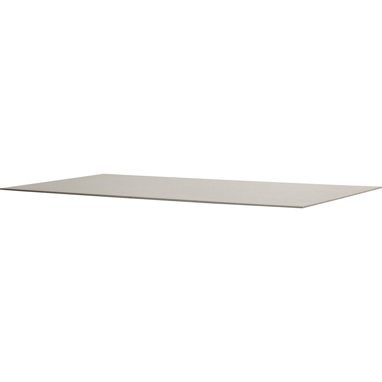 4Seasons Outdoor Rivoli Tisch Concept Light Taupe mit Alugestell weiß 170 x 95cm