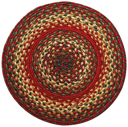 Homespice Round Trivet Jute Braided Rugs, 15-Inch, Cider Barn by Homespice