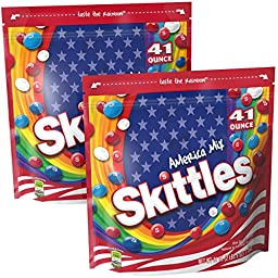 Skittles America Mix Candies, 41 Ounce (2 Bags)