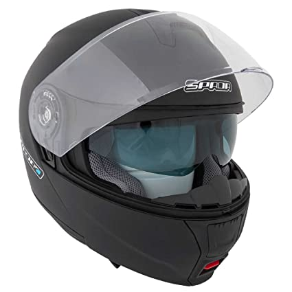 Nouveau casque de moto Spada de 2015 Cyclone Matt Black
