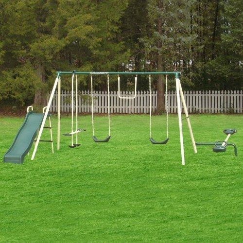 Flexible Flyer Backyard Flyer 6-Station Metal Swing Set