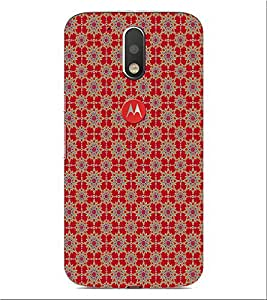 ifasho Animated Pattern design many small flowers Back Case Cover for Motorola Moto G4 Plus