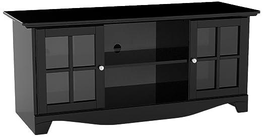 "Nexera Pinnacle 56"" TV Console for Center Channels - Black"