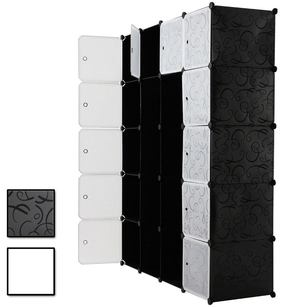Kleiderschrank Wäscheschrank großzügiger Schrank mit 14 Fächern B/H/T: ca. 145/180/45 cm jetzt kaufen