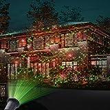 MICTUNING LED Projektionslampe Gartenleuchte mit Erdspieß,...