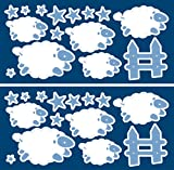 Glow In The Dark Sheep Wall Stickers