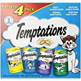 TEMPTATIONS Classic Treats for Cats Feline Favorites 3 Ounces, 4-Pouch Variety Pack