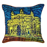 The Indian Promenade Gateway Of India Cushion Cover (Blue)