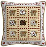 Historical Sampler Co. Baa Baa Sheep Tapestry, Black