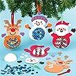 Bastel-Set mit Weihnachtsmotiven und Pailletten - 3 St�ck