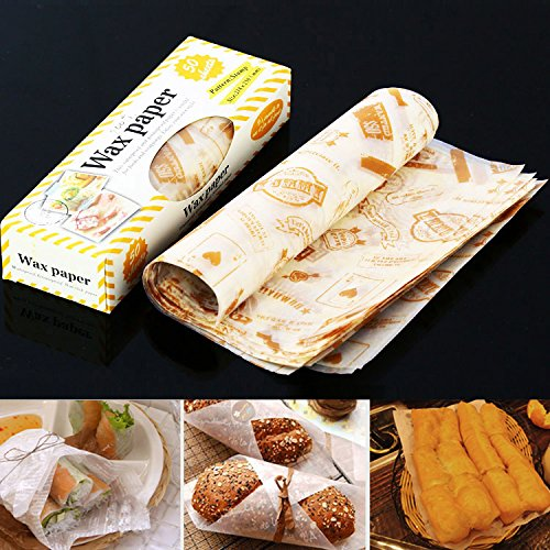 Sandwich Cookie Cake Waxed Paper Non-Stick Greaseproof Wrap Packaging 50 sheets (Wax Paper News compare prices)