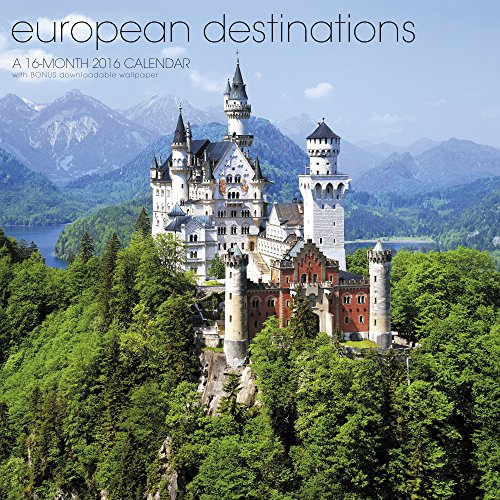 European Destinations Wall Calendar (2016)