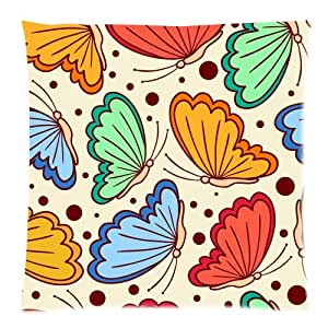 Amazon.com: Home Decor Color Multi Butterfly Art Zippered Throw Pillow
