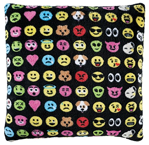"Cheapest Prices! iscream / Emoticons Plush 16"" Square Fleece Pillow"