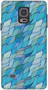 The Racoon Grip printed designer hard back mobile phone case cover for Samsung Galaxy Note 4. (Turquoise)