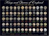 Kings & Queens of England - Coins of the Realm Poster - A3 Size