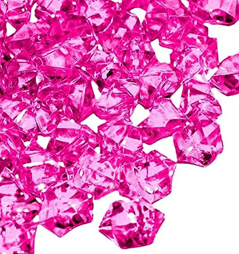 Ice Rock Crystals Treasure Gems for Table Scatters, Vase Fillers, Event, Wedding, Birthday Decoration Favor, Arts & Crafts (1 lb. Bag) by Homeneeds Inc (FUCHSIA) (Pink Vase Filler Gems compare prices)