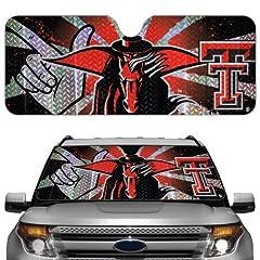 Buy NCAA Texas Tech Red Raiders Auto Sun Shade by Team ProMark