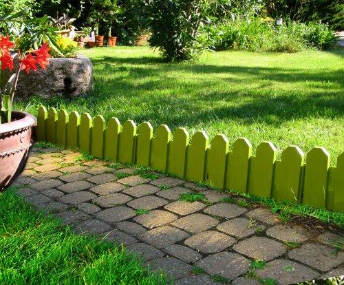 Bordura per giardino country in set di 4 colore pistacchio for Bordure aiuole offerte
