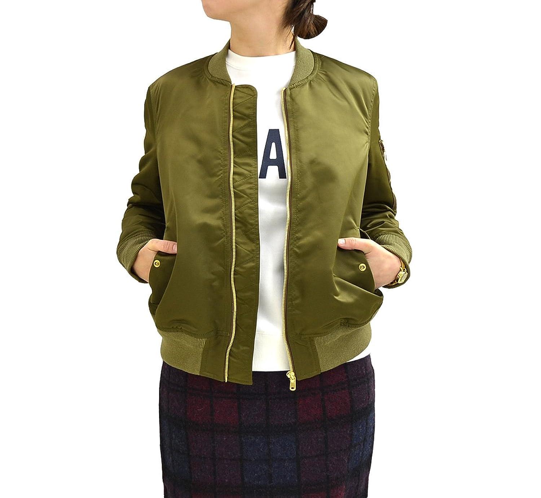 Amazon.co.jp: (マカフィー) MACPHEE TOMORROWLAND MA-1 サテンブルゾン 44-07001 57.Olive グリーン サイズ38: 服&ファッション小物通販