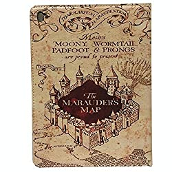 9.7'' ipad Pro Case The Marauder'S Map Design Apple ipad Pro 9.7-inch 2016 Fashion Trend TPU Leather Flip Case Protective Book Style Defender Stand Cover
