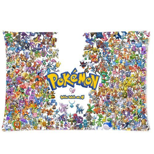 Custom-Pokemon-Pikachu-Anime-Pillow-Case-Cover-30×20-Inches-MC-040