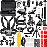 Neewer 58-In-1 Action Camera Accessory Kit for GoPro Hero Session/5 Hero 1 2 3 3+ 4 5 6 SJ4000 5000 6000 DBPOWER AKASO VicTsing APEMAN WiMiUS Rollei QUMOX Lightdow Campark And Sony Sports DV and More