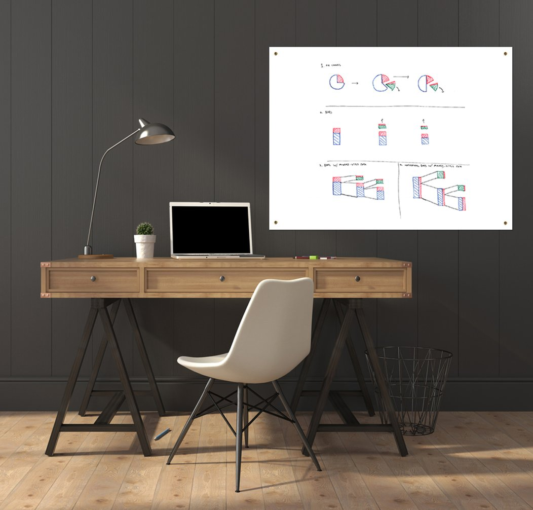 Sale! Large Dry Erase Board Surface Sheet - Better Than A Decal or Sticker - 36x48 Inches
