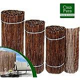 Brise vue canisse casa pura® | 100% produit naturel - clôture en bois de saule résistant | tailles au choix, 150x460cm