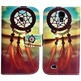 Samsung Galaxy S4 i9500 i9505 Kunst Leder TRAUMF�NGER real picture Design Klapp Stand Etui Schutz-H�lle Case Flip Tasche Cover thematys�