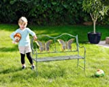 Junior Metal Butterfly Bench -- Kids Park Bench With Butterflies For Yard or Garden Product SKU: PB223564