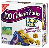 100 Calorie Packs Honey Maid Cinnamon Roll Thin Crisps, 6-Count Packets (Pack of 6)