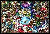500ピース ジグソーパズル ステンドアート ふしぎの国のアリス ストーリーステンドグラス ぎゅっとシリーズ スモールピース(25x36cm)