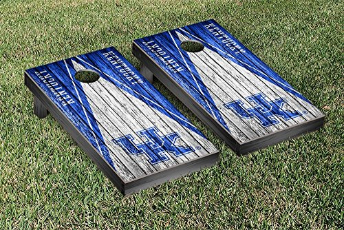 Kentucky UK Wildcats Cornhole Game Set Triangle Weathered Version (Corn Hole Kentucky compare prices)