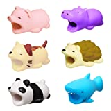 ATOPAL Cute Cable Animal Bits Protector 6 Pack, Cable Buddies Compatible iPhone ipad Charging Cords Data Line Protection, Gift (Color: 6PACK, Tamaño: Small)