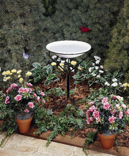 Bird Scene 850 Non-Heated Bird Bath, Beige, 20-Inch