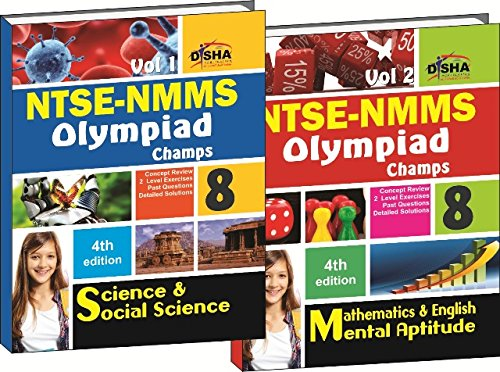 NTSE-NMMS/ OLYMPIADS Champs Class 8 Science/ Social Science/ Maths/ Mental Ability/ English Vol 1 & 2