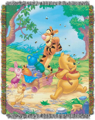 Disney Winnie the Pooh Sweet Summer Day 48-Inch-by-60-Inch Acrylic Tapestry Throw by The Northwest CompanyB000220D1W