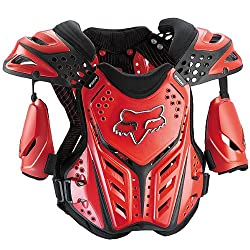 Fox Racing Raceframe Youth Boys Roost Deflector Off-Road Motorcycle Body Armor - Red