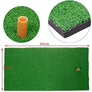 """RadiantOrchid 12""""x24"""" Home use and Backyard Real Feel Grass Practice Golf Mat"""
