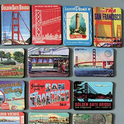 Himalaya San Francisco Fridge Magnet The Golden Gate Bridge Fridge Magnets Kids Toys Refrigerator New Year Gifts Home Decoraton Wall Sticker 24 Pack a Lot Multi-Color