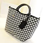 Women Handbag Black And White Houndst...
