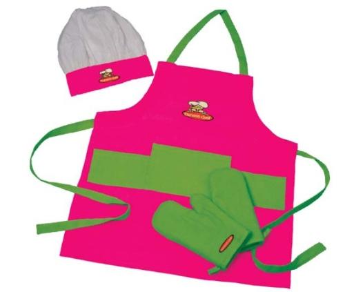 Curious Chef Child Chef Textile Set, 4-Piece front-728950