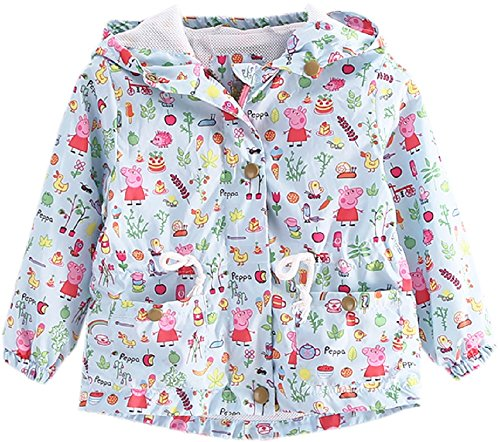 Quick Dry Lightweight Kids Baby Girls Fall Hooded Paige Coat Jacket-5-6T