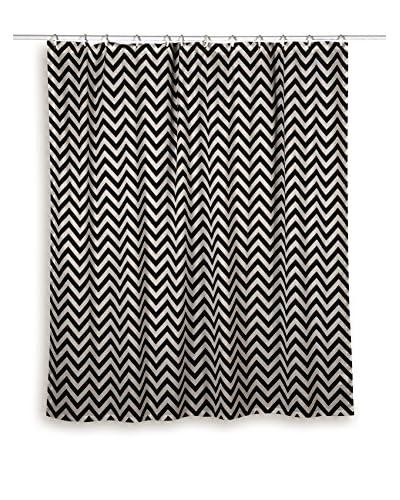 Rizzy Home Black Chevron Shower Curtain