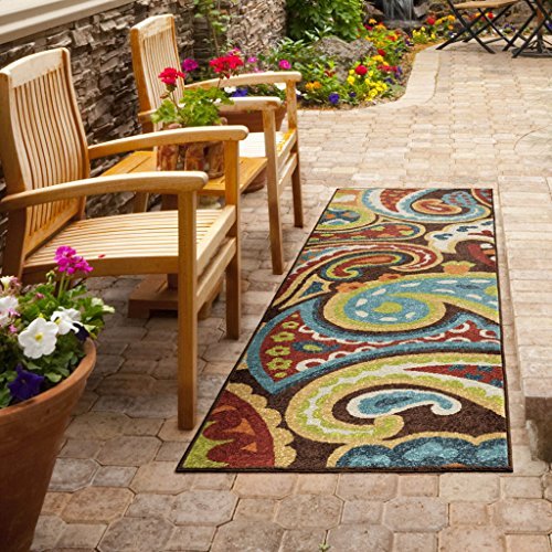 Orian Rugs Indoor/Outdoor Paisley Monteray Multi Runner Rug (2'3