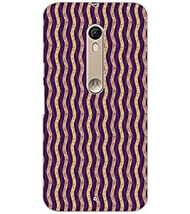 PrintDhaba ZIGZAG PATTERN D-6731 Back Case Cover for MOTOROLA MOTO X PURE EDITION (Multi-Coloured)